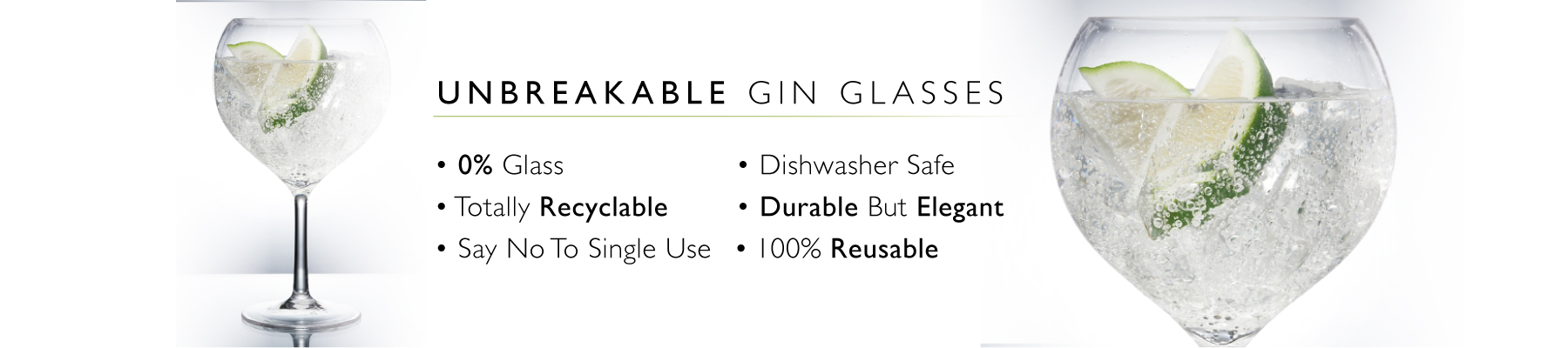 Plastic reusable gin glasses for catering in Hampshire