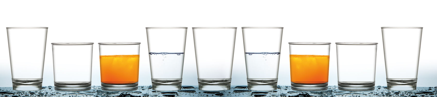 eco friendly plastic drinking glasses in a range of sizes