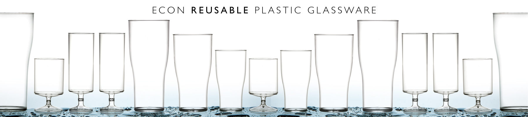 Reusable plastic drinking glassware for catering in Chandlers Ford Hampshire