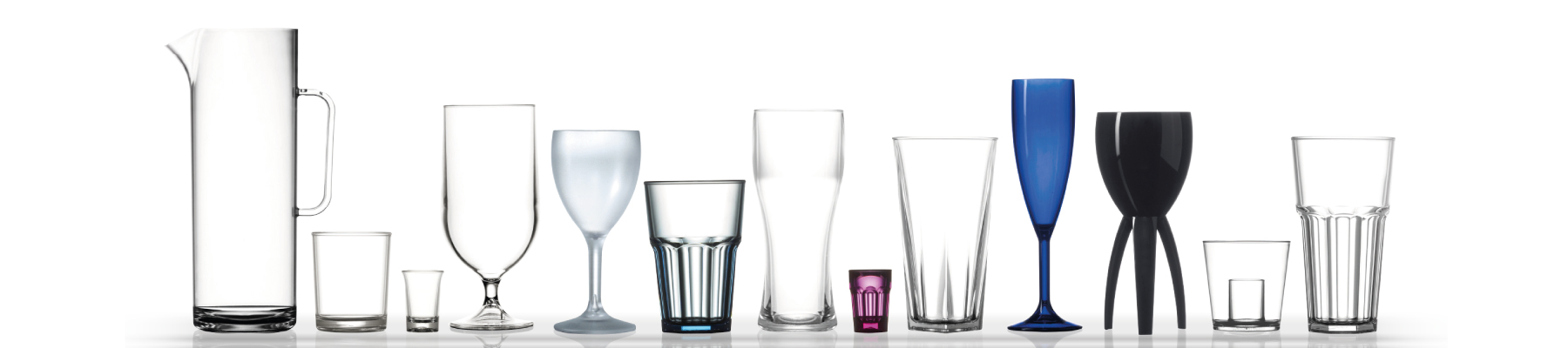 range of plastic glass styles for catering in Hampshire